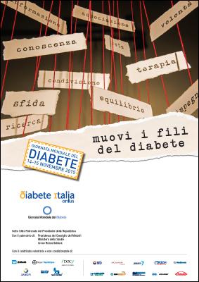 Locandina GMD Giornata Mondiale del diabete 2015