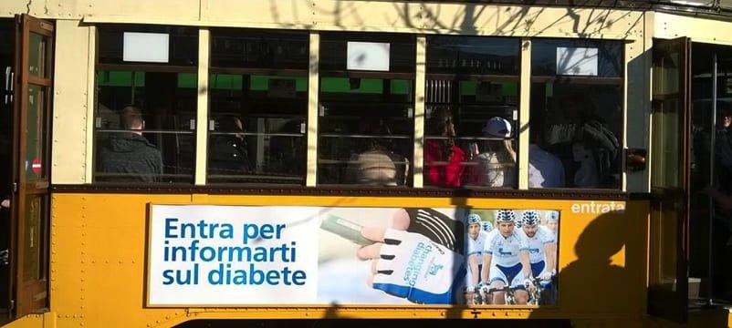 tram dedicato al diabete di tipo 1