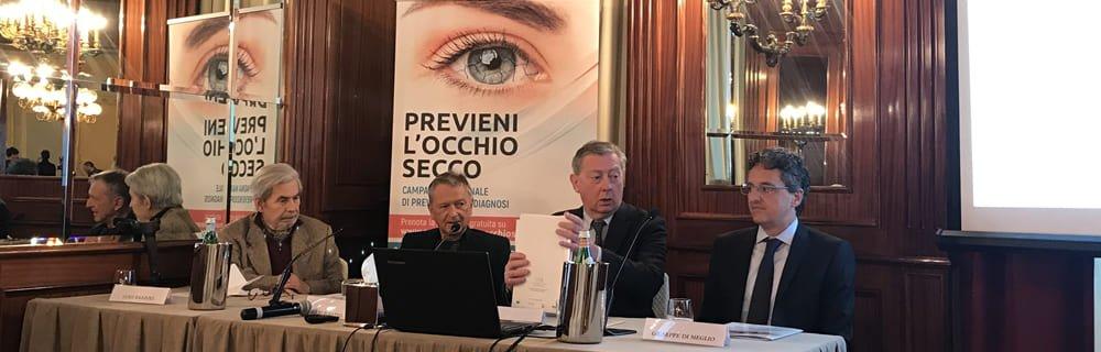 Occhio secco: campagna di prevenzione e cura 2019